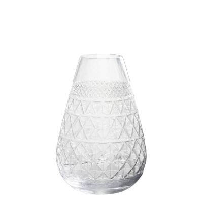 Vaas Conisch Geslepen Glas Transparant