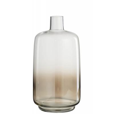 Vaas Bo Rond Glas Transparant/Beige