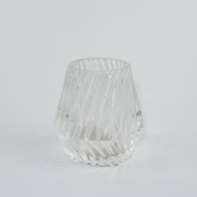 Glazen theelichthouder transparant