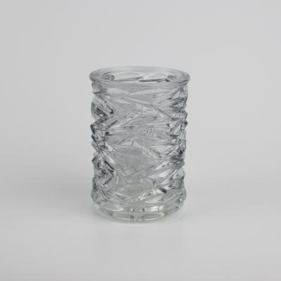 Glazen theelichthouder helder