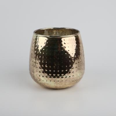Glazen theelichthouder goud