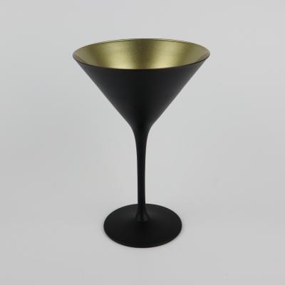 Cocktailglas zwart/ goud