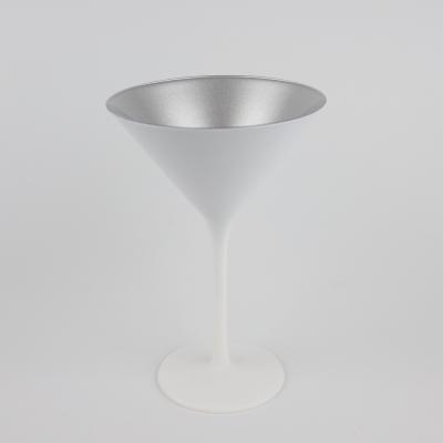 Cocktailglas wit/ zilver