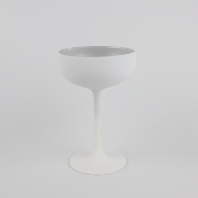 Champagnecoupe  wit/ zilver