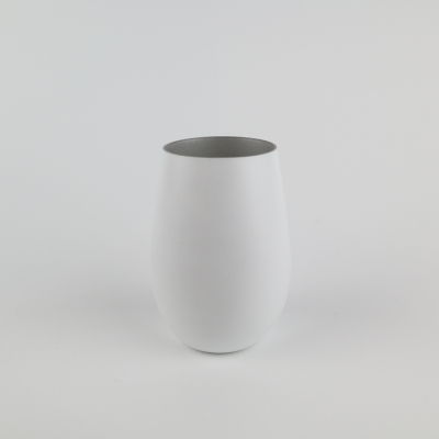 Glas wit/ zilver