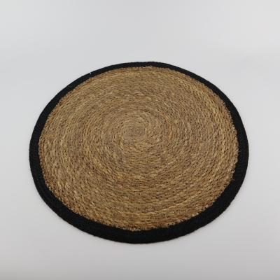 Ronde placemat zeegras zwart