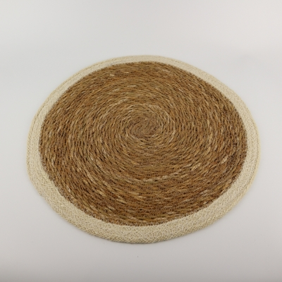 Ronde placemat zeegras wit