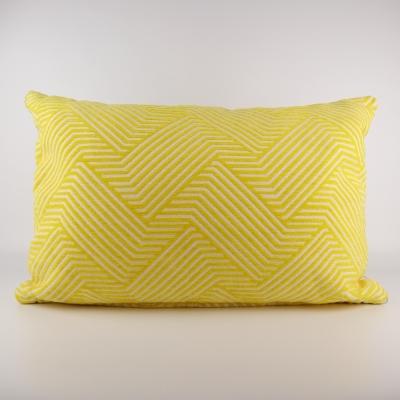 Kussen geel patroon