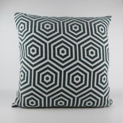 Kussen met patroon grijs/groen