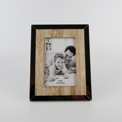 Fotolijst zilver & hout
