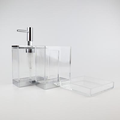 Transparante acryl badkamerset