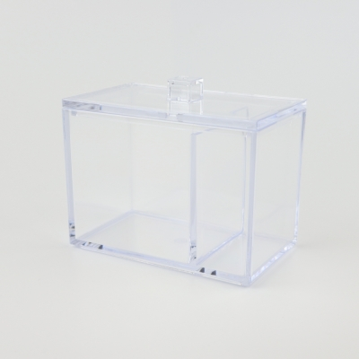 Transparante acryl bak met deksel