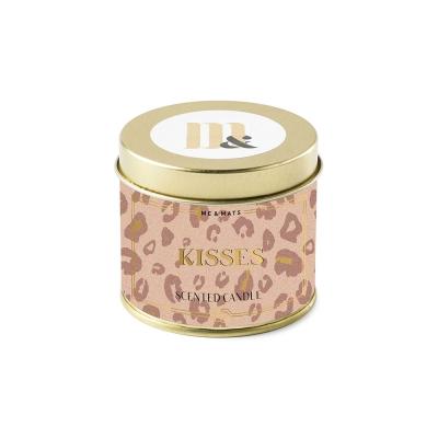 ME&MATS Tin candle Pink Leopard